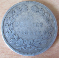 France - Monnaie 5 Francs Louis Philippe 1831 A (Domard 1er Type, Tranche Relief) En Argent - Achat Immédiat - J. 5 Francs