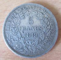 France - Monnaie 5 Francs Cérès 1849 A En Argent - Achat Immédiat - France