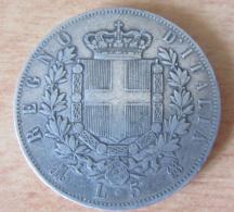 Italie - Monnaie 5 Lire Vittorio Emanuele II 1871 M En Argent - Achat Immédiat - 1861-1946 : Royaume