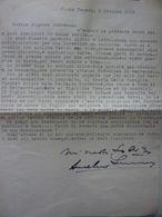Lettera Dattiloscritta  A Nobildonna Contessa   Fiume Veneto 5 Ottobre 1958 - Manuscripts