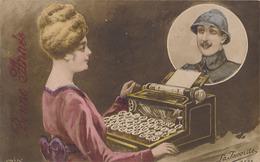 MACHINE A ECRIRE - MA PENSEE TE SUIT PARTOUT & TOUJOURS - Fancy Cards