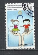MAURITIUS 2014 - OMBUDSPERSON FOR CHULDREN OFFICE - POSTALLY USED OBLITERE GESTEMPELT USADO - Maurice (1968-...)