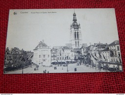 KORTRIJK  -  COURTRAI  -  Grote Markt En Sint Martinus Kerk  - Grand'Place Et Eglise Saint Martin - Kortrijk