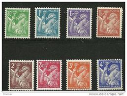 "FR YT 649 à 656 ""Type Iris Série Complète "" 1939-1944 Neuf** - 1939-44 Iris"