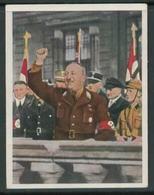 WW II Zigaretten Sammelbild 6,2 X 4,8 Cm , Kampf Um Das Dritte Reich Nr. 99 : Dr. Ley Spricht. - Albums & Catalogues