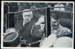 WW II Sammelbild Nr. 126 NSDAP Deutschland Erwacht : Adolf Hitler Der Führer Mit Hindenburg Im Auto 1. Mai 1933. - Deutschland