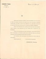 Vieux Papier - Vosges - 88 - Epinal - Société Des Etablissements Singrün - Joseph & Albert Singrün - Août 1901 - Non Classificati