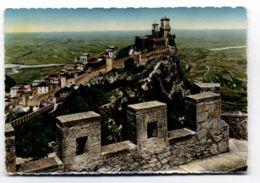 C560 SAN MARINO - PANORAMA E LE MURA VG 1956 + 5 LIRE + 5 LIRE - San Marino