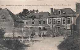 Cpa B46 MARCOING En Ruines- FERME DE Delfolie-trannoy OLD DELFOLIE TRANNOY FARM- Petite Animation - Marcoing