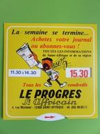 """Disque De Stationnement - Publicité """"Le Progrès St Affricain"""" - Imprimerie Rue Michelet - 12400 St-Affrique (Aveyron) - Voitures"""