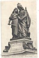 BELFORT . MONUMENT DES TROIS SIEGES . GROUPE PRINCIPAL . CARTE AFFR AU VERSO . 2 SCANES - Belfort – Siège De Belfort