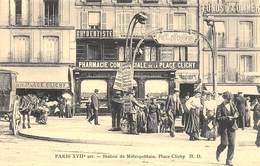 Paris XVIIe Arr. - Station Du Métropolitain - Place Clichy - Cecodi N'P41 - France
