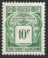 OCEANIE  1948  -  Taxe  18   - 10c  - NEUF* - Océanie (Établissement De L') (1892-1958)