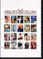 2001  USA   Illustrateurs Américain, Feuille De 3159 / 3178** Dans Son Blister, Cote 25 €, - Blocks & Sheetlets