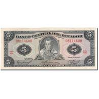 Billet, Équateur, 5 Sucres, 1975-03-14, KM:108a, SUP - Equateur