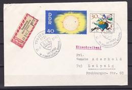 DDR - 1964/66 - Michel Nr. 1082+1240 - Einschreiben - Sonderstempel - DDR