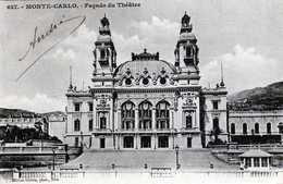 MONTE-CARLO- 392-  Facade Du Théâtre. 1902- 1/5 - Opéra & Théâtre