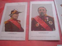 6 Cartes DECORATIONS, C1870 VERY EARLY LITHO, Vinoy Ladmirault Canrobert Pothuau Aurelle De Paladines GRAVIERE - Medals