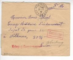 WOLHUSEN + KRIEGSGEFANGENENPOST MONTCARET DORDOGNE CENSURE CENSOR WW2 SUISSE INTERNES CAMP INTERNEMENT /FREE SHIP. R - Storia Postale