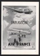 Pub Papier 1938  Voyage Avion Aviation Compagnie Aerienne AIR FRANCE Embarquement - Publicités