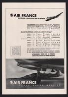 Pub Papier 1946  Voyage Avion Aviation Compagnie Aerienne AIR FRANCE - Publicités
