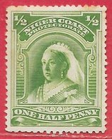 Côte Du Niger (Nigéria) N°27 0,5p Vert 1894-95 (*) - Nigeria (...-1960)