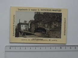 CHROMO Imprimerie Lithographie DUPIEREUX-WAUTLET à NAMUR: Grotte De ROYAT - Chromos