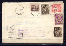 1949-50  1er Mai, Célébrité, Varsovie, Etc Sur Lettre Vers Belgique, Avec Marques De Contrôle Etc... - 1944-.... Republic