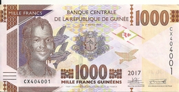 GUINEE 1000 FRANCS 2017 UNC P New - Guinée