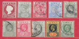 Gambie N°6,  20, 21, 23, 28, 40, 41, 69, 72, 83 10 Tp 1880-1922 *, (*), O - Nigeria (...-1960)