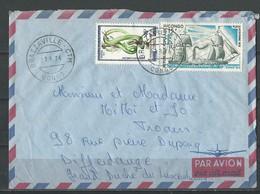 Congo: 296 + PA 229 Sur Lettre à Destination Du Luxembourg - Congo - Brazzaville