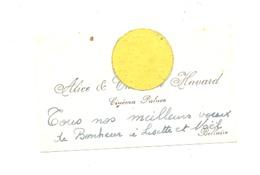 """BELLAIRE 1954 - Carte De Visite :Cinéma """" PALACE """" Alice & Charlotte HAVARD (nod 2) - Cartes De Visite"""