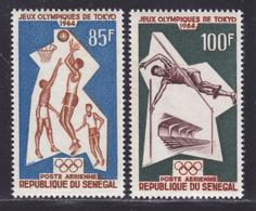 SENEGAL AERIENS N°   43 & 44 ** MNH Neufs Sans Charnière, TB (D8311) Jeux Olympiques De Tokyo -1964 - Senegal (1960-...)