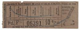 Tramways De Lille Et De Sa Banlieue - Tramways