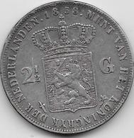 Pays Bas - 2,5 Gulden - 1858 - Argent - [ 3] 1815-… : Kingdom Of The Netherlands