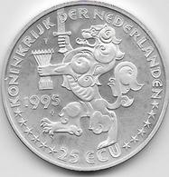 Pays Bas - 25 Ecus - 1995 - Argent - [ 3] 1815-… : Royaume Des Pays-Bas