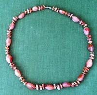 Women Heavy Pink Stone Chain Necklace, 63 Cm 91 Grams - Non Classificati