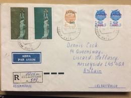 LATVIA - 1992 Air Mail Registered Livany Cover To Liverpool England - Latvia