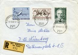 (e1042) Einschr. Österreich St. Pfaffstätten N. Nürnberg - 1945-.... 2ème République