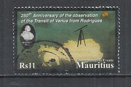 MAURITIUS 2011 - 250th ANNIVERSARY OF THE OBSERVATION OF THE TRANSIT OF VENUS -  POSTALLY USED OBLITERE GESTEMPELT USADO - Maurice (1968-...)