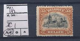 BELGIQUE COB 142 MNH - 1915-1920 Albert I