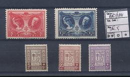BELGIQUE COB 240/44 MNH - Unused Stamps