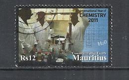 MAURITIUS 2011 - INTERNATIONAL YEAR OF CHEMISTRY -  POSTALLY USED OBLITEE GESTEMPELT USADO - Maurice (1968-...)