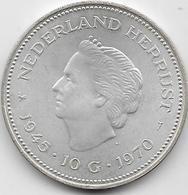 Pays Bas - 10 Gulden - 1970 - Argent - [ 3] 1815-… : Royaume Des Pays-Bas