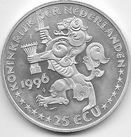 Pays Bas - 25 Ecu - 1996 - Argent - [ 3] 1815-… : Kingdom Of The Netherlands
