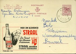 41800 Belgium,  Stationery Card  Circuled 1967 Publibel, Straal  Bronnen, Water - Other