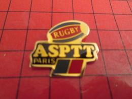 718B Pin's Pins /  Belle Qualité Et Rare / THEME : SPORTS / RUGBY CLUB ASPTT PARIS - Rugby