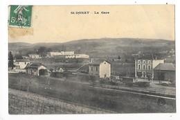 SAINT DONAT  (cpa 26)  La Gare   -  L 1 - France