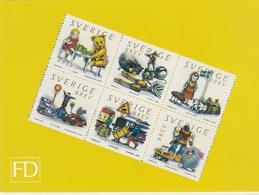 OLD TOYS Vieux Jouets Altes Spielzeug -  PHQ CARD  Slania Naszarkowski - Sweden 2000 MI 2194 - 2199 - Puppen