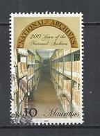 MAURITIUS 2015 - NATIONAL ARCHIVES BICENTENARY -  POSTALLY USED OBLITERE GESTEMPELT USADO - Maurice (1968-...)